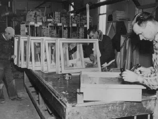 Window construction circa 1955